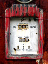 Tasmania - Petrol pump - rusting meter - photo by S.Lovegrove