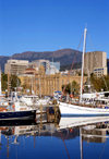 Hobart, Tasmania, Australia: harbour scene - boats and Customs House - photo by A.Bartel