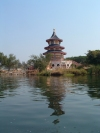 Thailand - Kanjanaburi: pagoda by the river Kwai (photo by Llonaid)