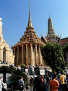 Bangkok / Krung Thep, Thailand: Wat Phra Kaew - Phra Mondrop, the library building - photo by Llonaid