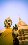 Thailand - Buddha and Golden Chedi, Wat Phrathat Doi Suthep, located on a hill 15 km from the city - stupa - temple - religion - Buddhism (photo K.Strobel)