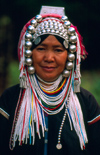 Thailand - Chiang Rai province - Mae Salong: Akha woman - hill tribes (photo by K.Strobel)