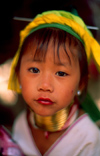 Thailand - Chiang Rai province - Mae Salong: Padaung girl with neck coils - Karen (photo by K.Strobel)