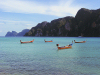 Thailand - Ko Pi Pi / Koh Phi Phi / Ko Phi Phi Don (Krabi province): boats (photo by M.Samper)