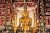 Thailand - Chiang Mai: group of Buddha statues - Wat Phrathat Doi Suthep - religion - Buddhism - photo by W.Allgöwer