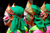 Thailand, Bangkok: group of celebrants at Chinese new year festival - photo by J.Pemberton