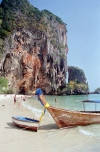Thailand - Krabi region: longtail boat on the beach (photo by J.Kaman)