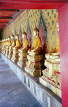 Bangkok / Krung Thep, Thailand: line of Buddhas - Royal palace - photo by J.Kaman