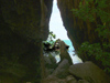 Thailand - Krabi: crevasse and the Andaman sea (photo by Ben Jackson)