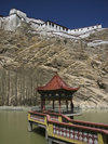Tibet - Gyantse: gazebo / mirador under the fortress - photo by M.Samper