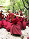 Tibet - Sera Monastery: monks (photo by P.Artus)