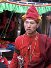 Tibet - Tibet - Lhasa: man with Tibetan hat  (photo by P.Artus)