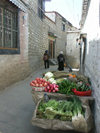 Tibet - Lhasa: back alley - photo by P.Artus