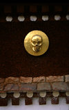 Tibet - golden skull - Buddhist symbolism - photo by Y.Xu