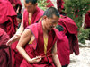 Tibet - Sera Monastery: monks - photo by P.Artus