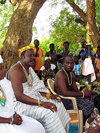 Akato-Viepe, Togo: Ewe chief during a ceremony in his village - photo by G.Frysinger