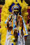 Port of Spain, Trinidad and Tobago: man with indian costume during carnival - photo by E.Petitalot