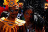 Port of Spain, Trinidad and Tobago: couple of revelers with costume during carnival - photo by E.Petitalot