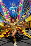 Port of Spain, Trinidad and Tobago: woman with a huge and colourful costume - Trinidadian Carnival artist - photo by E.Petitalot