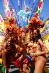 Port of Spain, Trinidad and Tobago: pretty girls at the carnival celebrations - photo by E.Petitalot