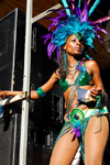 Port of Spain, Trinidad and Tobago: pretty girl at the carnival celebration - photo by E.Petitalot