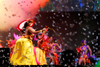 Port of Spain, Trinidad and Tobago: women dancing on stage during the carnival - confetti - photo by E.Petitalot