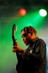 Port of Spain, Trinidad and Tobago: singer is playing guitar - carnival - photo by E.Petitalot