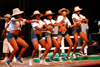 Port of Spain, Trinidad and Tobago: group of women in shorts dancing during carnival - photo by E.Petitalot