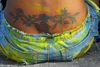 Port of Spain, Trinidad and Tobago: tattoo on the back of a woman - photo by E.Petitalot