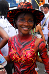 Port of Spain, Trinidad and Tobago: girl with tiger body painting during carnival - colouful body - photo by E.Petitalot