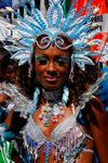 Port of Spain, Trinidad and Tobago: girl with blue gems - carnival - photo by E.Petitalot