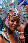 Port of Spain, Trinidad and Tobago: woman with long eyelashes - carnival - photo by E.Petitalot