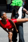 Port of Spain, Trinidad and Tobago: couple showing a soca mona dance - mix of chutney and calypso music - photo by E.Petitalot