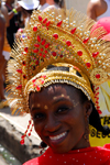 Port of Spain, Trinidad and Tobago: girl with jewel encrusted crown during the carnival celebrations - photo by E.Petitalot