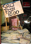 Trinidad - Port of Spain: salt fish for sale - a Caribbean favourite - photo by P.Baldwin