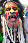 Port of Spain, Trinidad and Tobago: Papua costume at the carnival parade - photo by E.Petitalot