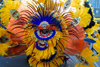 Port of Spain, Trinidad and Tobago: orange feather costume - carnival parade - photo by E.Petitalot