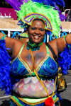 Port of Spain, Trinidad and Tobago: a big girl dancing - carnival - photo by E.Petitalot