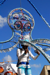 Port of Spain, Trinidad and Tobago: octopus on a float - carnival parade - photo by E.Petitalot