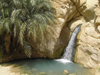 Tunisia - Chebika: waterfall and pond (photo by J.Kaman)