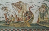 Tunisia - Tunis / TUN : Bardo Museum - Mosaic displaying Ulysses / Odysseus - Mosaïque (photo by J.Kaman)