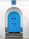 image of Tunisia - Sidi Bou Said: blue gate / door (photo by J.Kaman)