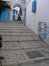 image of Tunisia - Sidi Bou Said: whitewashed alley (photo by J.Kaman)