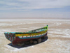 Chott el Jerid salt lake - boat (photo by J.Kaman)