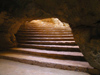 El Haouaria - Cap Bon: Roman caves - stairs - photo by J.Kaman
