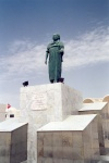 Tunisia - El-Hamma: local hero on main square (photo by M.Torres)