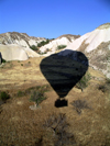 Turkey - Cappadocia - Goreme / Korama: balloon shadow - photo by R.Wallace
