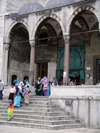 Turkey - Istanbul / Constantinople / IST: the Blue Mosque - leaving - photo by R.Wallace