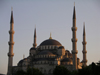 Turkey - Istanbul / Constantinople / IST: the Blue Mosque - sunset - photo by R.Wallace