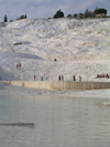 Turkey - Pamukkale (Denizli province): pools rich in calcium bi-carbonate - photo by R.Wallace